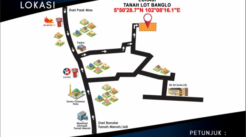 Tanah Untuk dijual di Chawas 3 Tanah Merah Kelantan