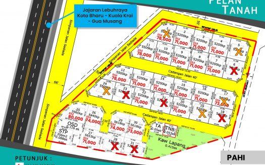 Tanah Untuk Dijual Di Pahi Kuala Krai Kelantan