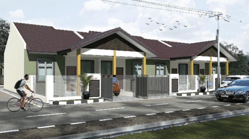 Rumah Teres Setingkat Di Tebing Tinggi Tanah Merah Kelantan Untuk Dijual