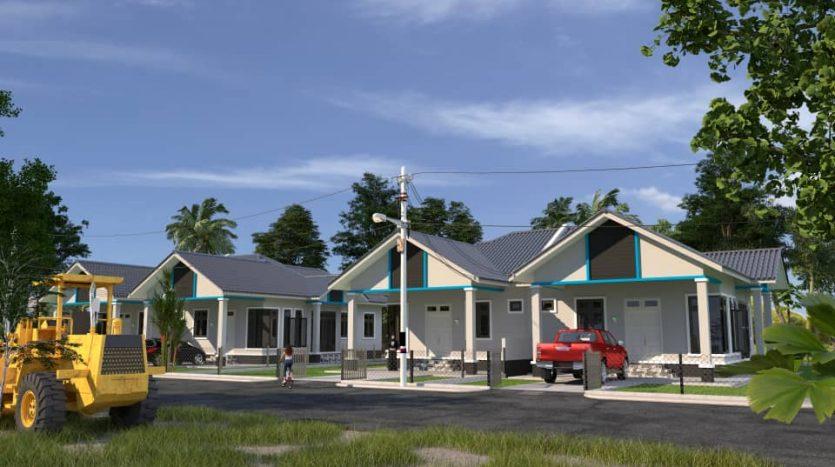 Rumah Semi D di Padang Raja Melor Untuk Dijual