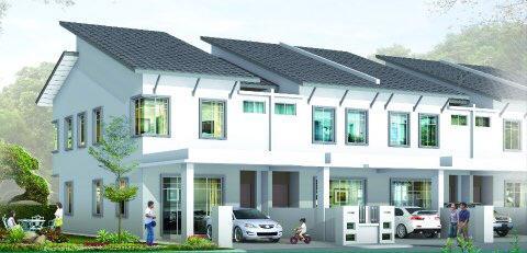 rumah untuk dijual di taman koperasi perdana kemaman terengganu teres 2 tingkat